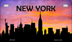 New York Silhouette Motorcycle License Plate MP-8704