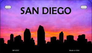 San Diego Silhouette Motorcycle License Plate MP-8707