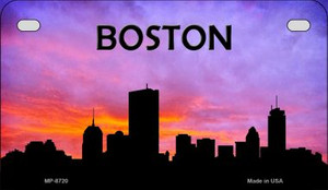 Boston Silhouette Motorcycle License Plate MP-8720