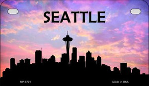 Seattle Silhouette Motorcycle License Plate MP-8721