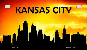 Kansas City Silhouette Motorcycle License Plate MP-8724