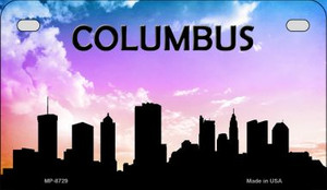 Columbus Silhouette Motorcycle License Plate MP-8729