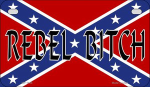 Rebel Bitch Novelty Wholesale Motorcycle License Plate MP-1446