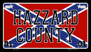 Hazzard Country Confederate Flag Novelty Wholesale Motorcycle License Plate MP-1927