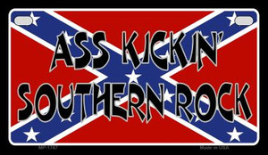 Ass Kickin Southern Rock Novelty Wholesale Motorcycle License Plate MP-1767