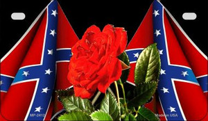 Confederate Rose Novelty Wholesale Motorcycle License Plate