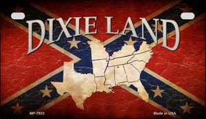 Dixie Land Novelty Wholesale Motorcycle License Plate MP-7923