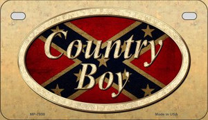Country Boy Novelty Wholesale Motorcycle License Plate MP-7959