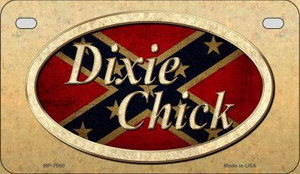 Dixie Chick Confederate Novelty Wholesale Motorcycle License Plate MP-7960