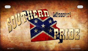 Southern Pride Missouri Novelty Wholesale Motorcycle License Plate MP-7977