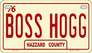 Boss Hogg Novelty Wholesale Motorcycle License Plate MP-8710