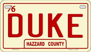 Duke Novelty Wholesale Motorcycle License Plate MP-8714