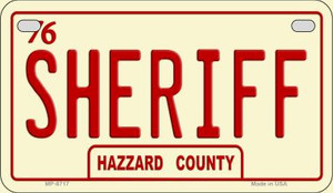 Sheriff Novelty Wholesale Motorcycle License Plate MP-8717