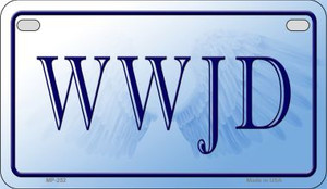 WWJD Novelty Wholesale Motorcycle License Plate