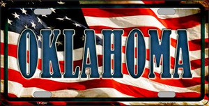 Oklahoma Wholesale Metal Novelty License Plate
