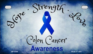 Colon Cancer Ribbon Novelty Wholesale Motorcycle License Plate MP-8306