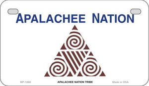 Apalachee Nation Tribe Novelty Wholesale Motorcycle License Plate MP-1866