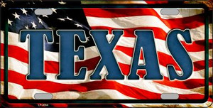 Texas Wholesale Metal Novelty License Plate