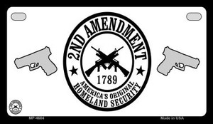 2nd Amendment Wholesale Motorcycle License Plate MP-4684