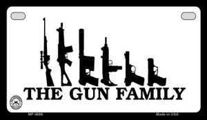 The Gun Family Wholesale Motorcycle License Plate MP-4686