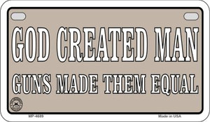 God Created Man Wholesale Motorcycle License Plate MP-4689