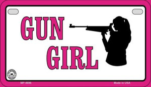 Gun Girl Wholesale Motorcycle License Plate MP-4696