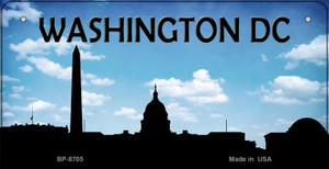Washington DC Silhouette Wholesale Bicycle License Plate BP-8705