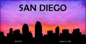 San Diego Silhouette Wholesale Bicycle License Plate BP-8707