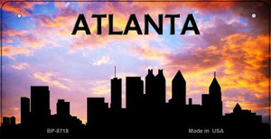 Atlanta Silhouette Wholesale Bicycle License Plate BP-8718