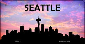 Seattle Silhouette Wholesale Bicycle License Plate BP-8721