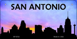 San Antonio Silhouette Wholesale Bicycle License Plate BP-8722