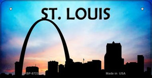 St Louis Silhouette Wholesale Bicycle License Plate BP-8723
