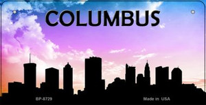 Columbus Silhouette Wholesale Bicycle License Plate BP-8729