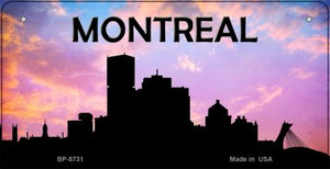 Montreal Silhouette Wholesale Bicycle License Plate BP-8731