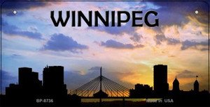 Winnipeg Silhouette Wholesale Bicycle License Plate BP-8736