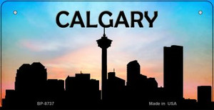 Calgary Silhouette Bicycle License Plate BP-8737