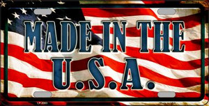 Made In The USA Wholesale Metal Novelty License Plate