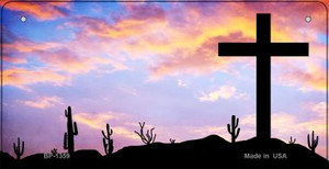 Sunset Cross Novelty Wholesale Bicycle License Plate BP-1359