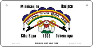 Cheyenne River Sioux Tribe Novelty Wholesale Bicycle License Plate BP-1870