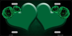 Hearts Over Roses In Green Wholesale Novelty License Plate LP-11449