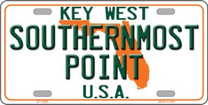 Key West Southernmost Point Wholesale Novelty License Plate LP-11526