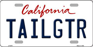 Tailgtr California Novelty Wholesale Metal License Plate