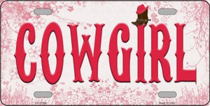 Cowgirl Wholesale Novelty License Plate LP-11568