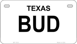 Bud Texas State Wholesale Motorcycle License Plate MP-1514
