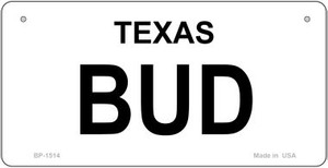 Bud Texas State Novelty Wholesale Bicycle License Plate BP-1514