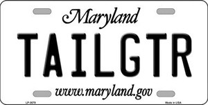 Tailgtr Maryland Novelty Wholesale Metal License Plate