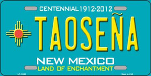 Taosena Teal New Mexico Novelty Wholesale License Plate LP-11650