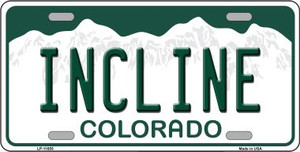 Incline Colorado Background Wholesale Novelty License Plate LP-11655
