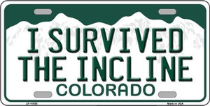 I Survived The Incline Colorado Background Wholesale Novelty License Plate LP-11656