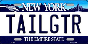 Tailgtr New York Novelty Wholesale Metal License Plate